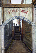 Entrance Door Painting Framed Prints - Star Theater Framed Print by Peter Jai