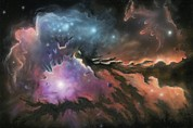 Stellar Evolution Photos - Starbirth Region, Artwork by Richard Bizley