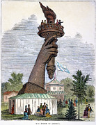 1876 Framed Prints - Statue Of Liberty, 1876 Framed Print by Granger