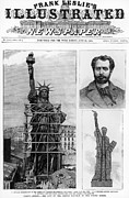 Front Page Framed Prints - Statue Of Liberty, 1885 Framed Print by Granger