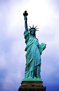 Locations Photo Posters - Statue of Liberty Poster by Sami Sarkis