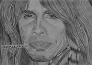 Steven Tyler Aerosmith Drawings - Steven Tyler Portrait by Jeepee Aero