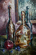 Impressionistic Wine Prints - Still life Print by Michael Lang