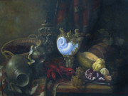 Dark Paintings - Still-life with a lobster by Tigran Ghulyan