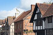 Old Frame Houses Prints - Stratford upon Avon Print by Andrew  Michael