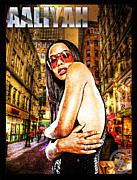 Rap Mixed Media Posters - Street Phenomenon Aaliyah Poster by The DigArtisT