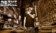Rap Mixed Media - Street Phenomenon Drake by The DigArtisT