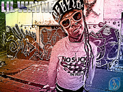 Young Money Mixed Media - Street Phenomenon Lil Wayne by The DigArtisT
