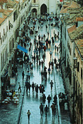 Citizens Prints - Streets of Dubrovnik Print by Carl Purcell