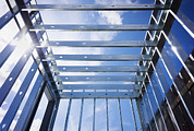 Metal Sheet Photo Framed Prints - Structural Steel Construction Of An Framed Print by Don Mason