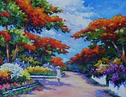 Clarke Paintings - Summer in Savannah by John Clark