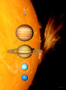 Large Scale Framed Prints - Sun And Its Planets Framed Print by Detlev Van Ravenswaay