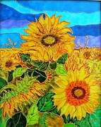 Paint Glass Art - Sun Flower by Danuta Duminica