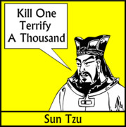 Leader Digital Art Framed Prints - Sun Tzu Framed Print by War Is Hell Store