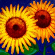 Sunflower Duet  Print by John  Nolan