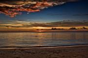 Asien Prints - sunset at White Beach Print by Joerg Lingnau