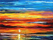 Building Painting Originals - Sunset by Leonid Afremov