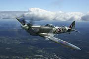 Supermarine Spitfire Mk.xvi Fighter Print by Daniel Karlsson