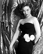 Strapless Dress Prints - Susan Hayward, 1940s Print by Everett