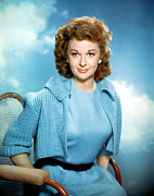 1950s Fashion Metal Prints - Susan Hayward, 1950s Metal Print by Everett