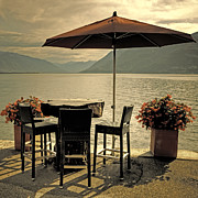 Parasol Framed Prints - Table And Chairs Framed Print by Joana Kruse