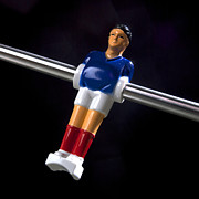 Game Piece Metal Prints - Tabletop soccer figurine Metal Print by Bernard Jaubert
