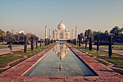 Onion Dome Framed Prints - Taj Mahal Framed Print by Benjamin Matthijs