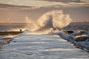 Building Feature Photo Prints - Tallinn Coastline And Stormy Seas Print by Jaak Nilson