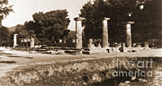 Ancient Greek Ruins Posters - Temple Of Zeus, Olympia, Greece Poster by Photo Researchers