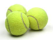 Curve Ball Metal Prints - Tennis balls Metal Print by Blink Images