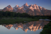 Grand Tetons Framed Prints - Teton Reflections Framed Print by Andrew Soundarajan