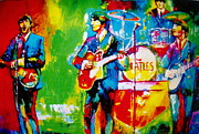 George Harrison Paintings - The Beatles by Leland Castro
