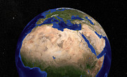 Sudan Red Photos - The Blue Marble Next Generation Earth by Stocktrek Images