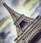 The Eiffel Tower Prints - The Eiffel Tower  Print by Irina Sztukowski