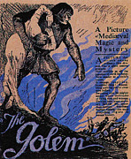 Horror Movies Framed Prints - The Golem, Aka Der Golem, Wie Er In Die Framed Print by Everett