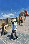 Blue Sky Art - The Great Wall in China by George Atsametakis