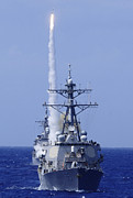 Guided Missiles Framed Prints - The Guided-missile Destroyer Uss Framed Print by Stocktrek Images