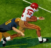 Football Paintings - The Juice by Perry Ashe