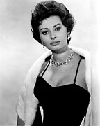 Diamond Earrings Framed Prints - The Key, Sophia Loren, 1958 Framed Print by Everett