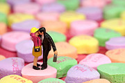 Candy Digital Art Prints - The Lovers in Valentines Day Print by Mingqi Ge