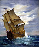 Colonist Posters - The Mayflower Poster by Granger