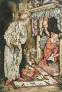 Christmas Eve Drawings Metal Prints - The Night Before Christmas Metal Print by Arthur Rackham