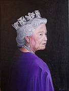 Tiara Paintings - The Queen by Thomas Faires