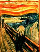 Reproduction Painting Prints - The Scream Print by Pg Reproductions