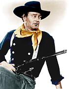Cavalry Uniform Prints - The Searchers, John Wayne, 1956 Print by Everett