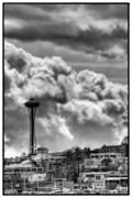 Needle Posters - The Space Needle Poster by David Patterson