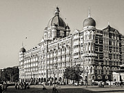 Black Commerce Posters - The Taj Mahal Palace Hotel Poster by Benjamin Matthijs