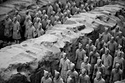 Historic Statue Prints - The Terracotta Army Print by Sami Sarkis