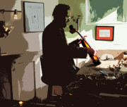 Restoration Digital Art Prints - The Violin Shop Print by Steven  Digman