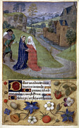 Hours Painting Prints - The Visitation Print by Granger
